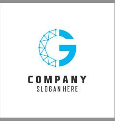 letter g logo design template c g technology vector image