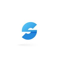 letter s logo on white alphabet background vector image