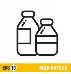 Line icon milk bottle vector