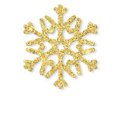 merry christmas card with gold glittering vector image