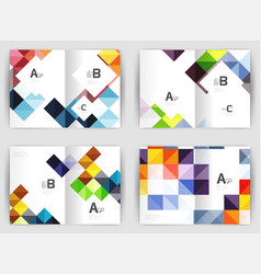 Minimal square mosaic cover design templates vector