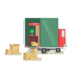 Moving furniture loading vector image