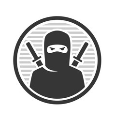 ninja warrior logo icon on white background vector image