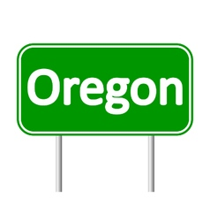 Oregon green road sign vector
