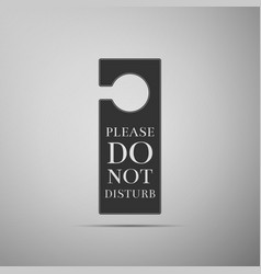 please do not disturb icon on grey background vector image
