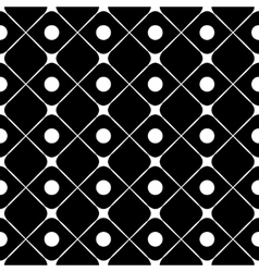 Polka dot and square seamless pattern vector