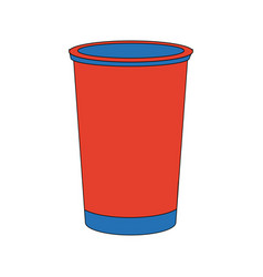 Portable cup disposable beverage fresh icon vector