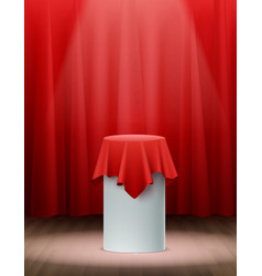 Presentation silk cloth background vector