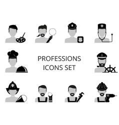 Professions icons set vector