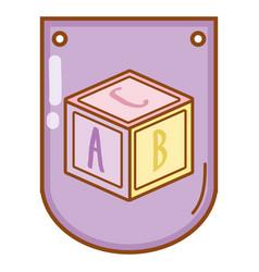 puzzle cube batoy vector image