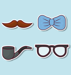 related icons of father day vector image