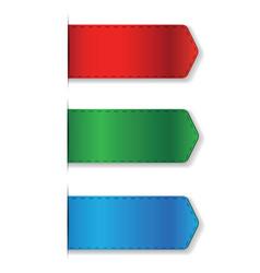 Ribbon set - bookmark vector