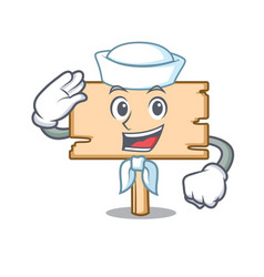 sailor wooden board character cartoon vector image