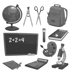 School supplies and education objects vector