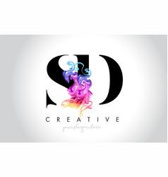 Sd vibrant creative leter logo design vector
