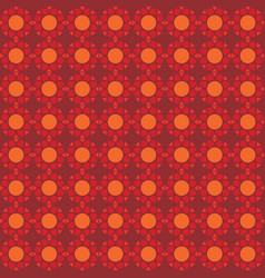 seamless pattern orange background vector image
