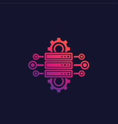 Server hosting network configuration vector