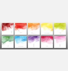 set bright colors watercolor vector image