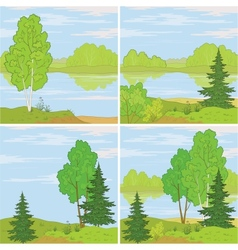 Set forest landscapes vector image