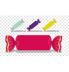 Set rectangular colored candies vector