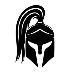 Sign of black spartan helmet vector