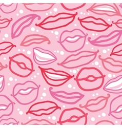 Smiling lips seamless pattern background vector image