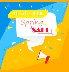 spring sale banner on a colorful background vector image