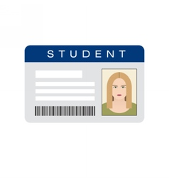 Student ID card vector
