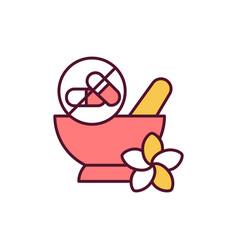 traditional medicine rgb color icon vector image