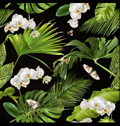 tropical orchid pattern vector image