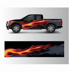 truck and car graphic background wrap and vinyl vector image