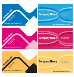 vector business cards vector image