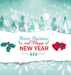 Vintage christmas greeting card background vector