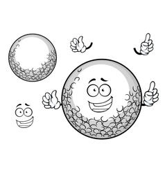 White golf ball cartoon character vector