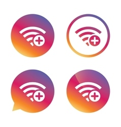 Wifi plus sign Add Wi-fi symbol Wireless vector