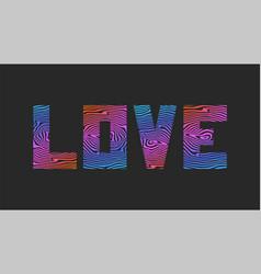Word love slogan typography lettering design vector