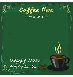 Coffee menu green chalkboard vector