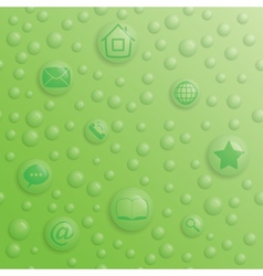 drop-buttons vector image
