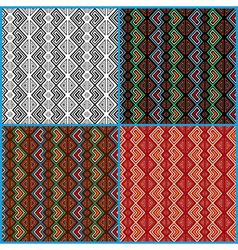 Four seamless ethnic motifs patterns vector