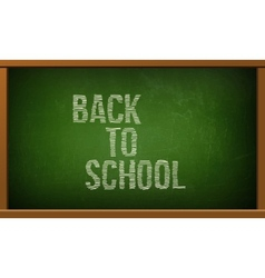 Green board with text on chalkboard vector image