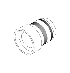 Interchangeable lens for camera icon vector image
