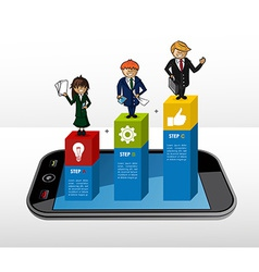 Mobile business infographic concept vector