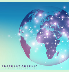 three-dimensional abstract background planet vector image vector image