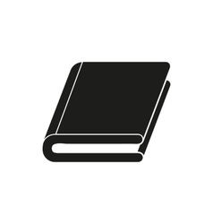 black book simple icon vector image vector image