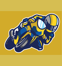 cartoon style of sportbike race vector image vector image