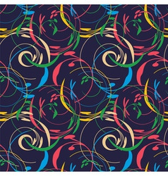 elegant floral wallpaper seamless vector image vector image