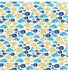 fabric seamless pattern with sea fishes vector image vector image