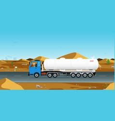 gas truck vector image vector image