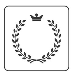 Laurel wreath icon crown flat symbol victory vector image vector image