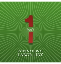 May 1 paper label labor day vector